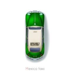 Mexico taxi vector image