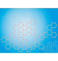 molecular background vector image vector image