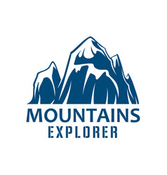 Mountains expedition symbol for sport design vector