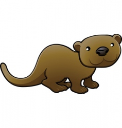 otter illustration vector image