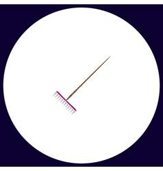 Rake computer symbol vector image vector image