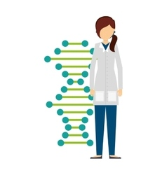 Scientific laboratory worker concept vector