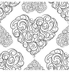 Seamless pattern with beautiful hearts vector