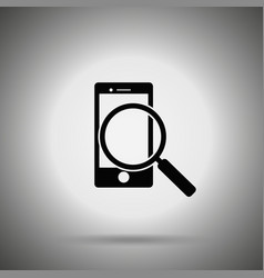 Search smartphone icon vector