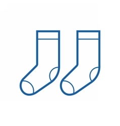 Thin Line Socks Icon vector image vector image