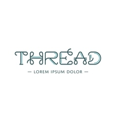 Thread logo vector image