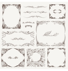 Vintage Arabic Frames and Ornaments vector image