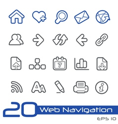 Web Navigation Outline Series vector image vector image