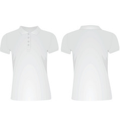 White women polo t shirt vector