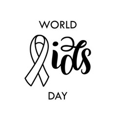 world aids day aids awareness red aids ribbon vector image