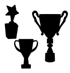 Cup Prize The award winnerThe silhouette of the vector image