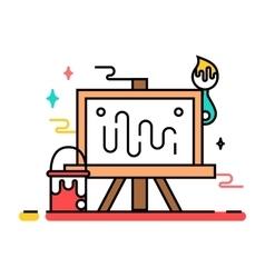 Art tools and materials vector