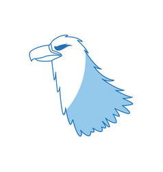eagle head beak predator feather image vector image