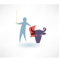 Bullfighter icon vector image