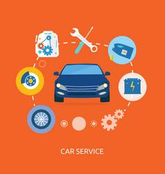 Auto mechanic service flat icons of maintenance vector