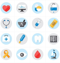 Flat icons for medical icons and healthcare icons vector