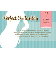 Confident fit and firm woman shape banner or label vector