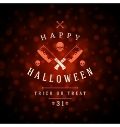 Vintage Happy Halloween Typographic Design vector image
