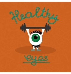 Gymnastics for the healthy eyes vector