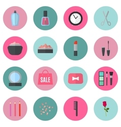 Make up flat icons vector