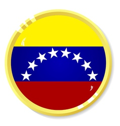 Button with flag venezuela vector