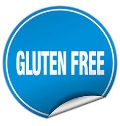 Gluten free round blue sticker isolated on white vector