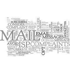 A beginners guide to isp inbox delivery text word vector