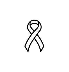 aids ribbon icon on white background vector image