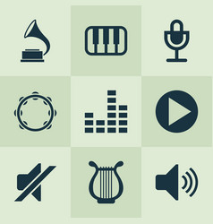 Audio icons set collection of equalizer sound vector