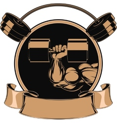 Bodybuilding iron biceps vector