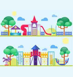 children playground fun childhood play park vector image vector image