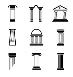 Column black icons vector