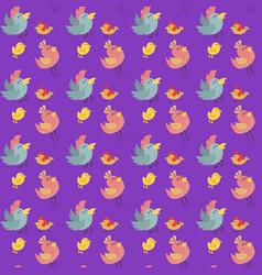 Cute birds seamless pattern vector