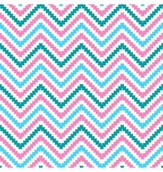 Cute tribal zig zag seamless pattern vector image