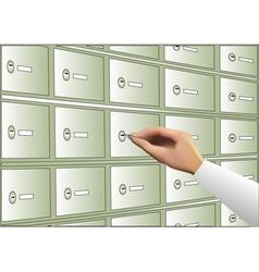 Deposit box vector