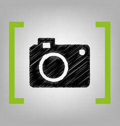 digital camera sign black scribble icon vector image vector image