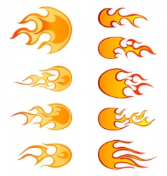 fire patterns set vector image vector image
