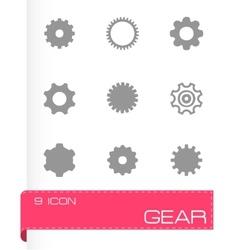gear icon set vector image vector image