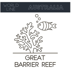 Great barrier reef australia vector