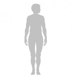 human contour vector image