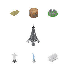 Isometric attraction set of new york rio athens vector