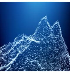 Low poly geometric 3d mountain landscape terrain vector