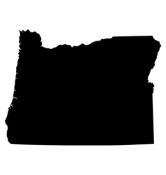 Map of the us state of oregon vector