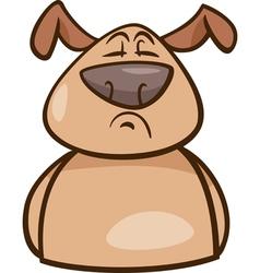 Mood proud dog cartoon vector