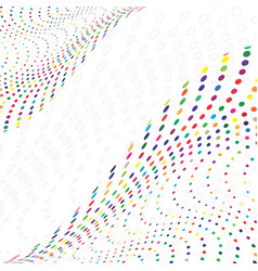 Multicolored pattern vector
