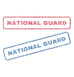 National guard textile stamps vector