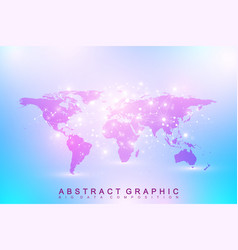 political world map geometric graphic background vector image vector image