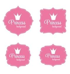 Princess crown frame vector