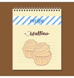 Recipe Book Muffins vector image