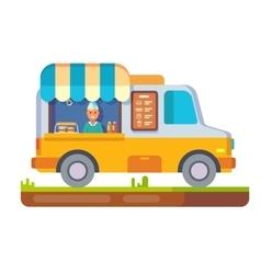 Store fast food van vector